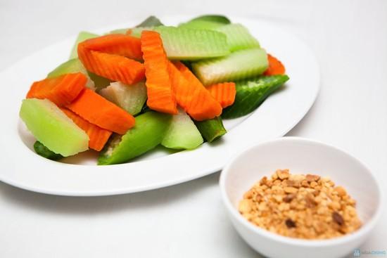 Thực đơn ăn kiêng giảm mỡ bụng hiệu quả với su su chấm muối vừng