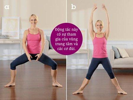 """5 động tác giúp phái đẹp tự tin """"nói không"""" với mỡ thừa 1"""